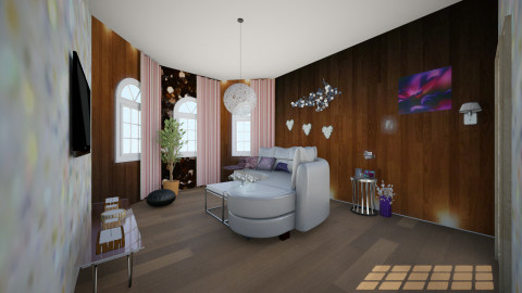 Mix pink_purple - Living room  - by Tessa Feikens