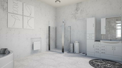 White Bath - Minimal - Bathroom  - by Anna Wu