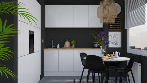 Small Kitchen - Minimal - Kitchen - by HenkRetro1960