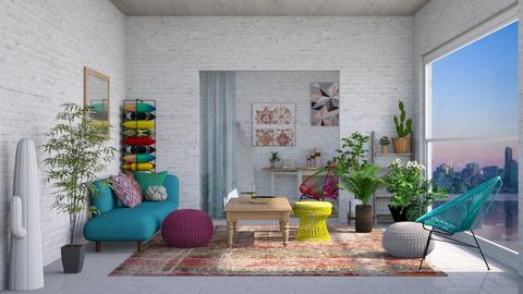 Boho Living - Eclectic - Living room - by WubMaxWax