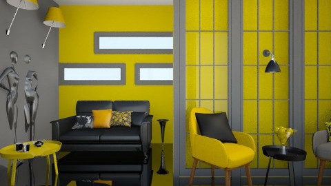 Black and Yellow - Modern - Living room - by idna