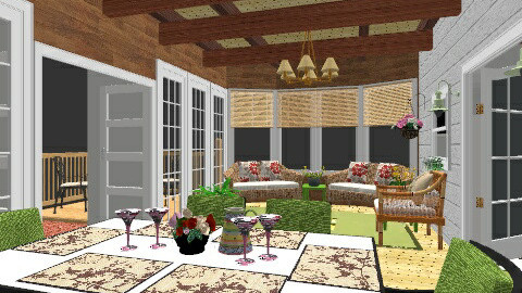 Veranda - Country - Kitchen  - by htktcskh21121