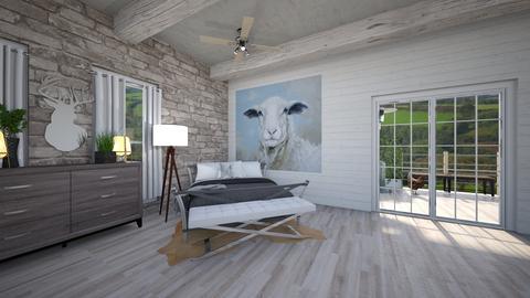Cottage Bed Room - Bedroom  - by Sugarfishfish