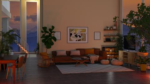 Amber - Rustic - Living room  - by Kendal Peterson