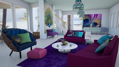 Persian Peacock Lounge  - Global - Living room - by Interiors by Elaine