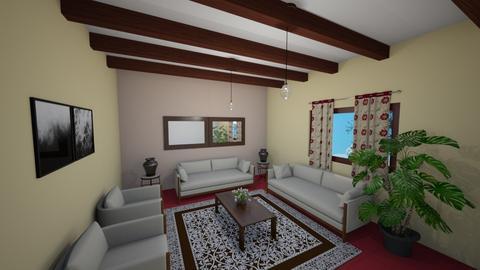 Sala Tabaco marfil - Rustic - Living room  - by Alexander Davila