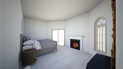 grey tones with blue - Modern - Bedroom  - by chixa
