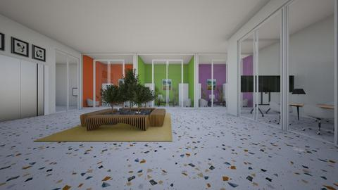 colorful office - by cuneyt oznur