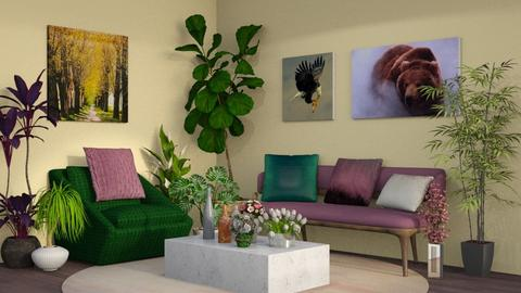 Plants in the living room - Classic - Living room  - by QueenOfDiamonds