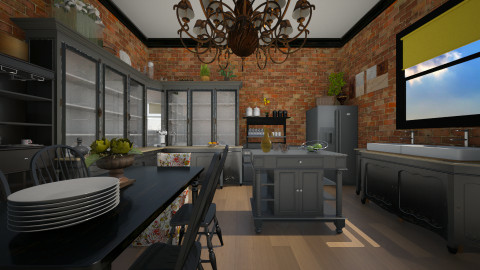 Rustic Dining - Kitchen  - by sissybee