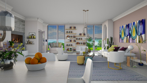 Maraschino_Chalky White - Modern - Living room  - by janip