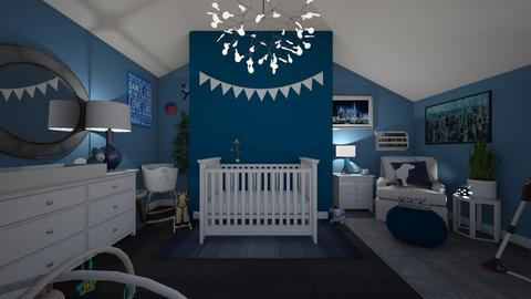 Baby Blue - Kids room  - by Sierra Fox