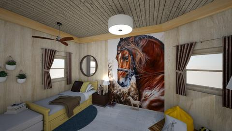 Horse Lover Bedroom - Modern - by mjh022006