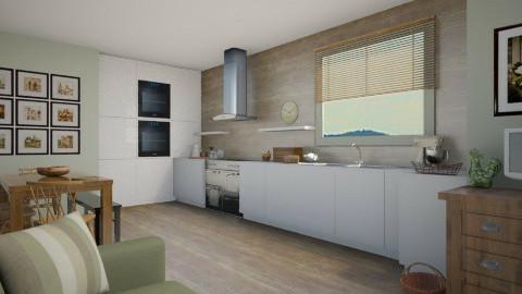 Green Kitchen - Rustic - Kitchen  - by camilla_saurus