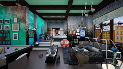 bachelor pad - Eclectic - Living room  - by Ida Dzanovic