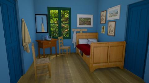 Van Gogh Inspired bedroom - Bedroom  - by seeeeeesiiiiiiii