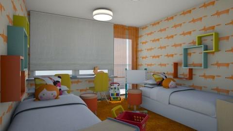 Floor Plan  - Kids room  - by chania