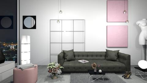 Pink and Wink - Living room  - by babucka