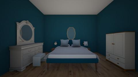 blue bedroom - Bedroom  - by gurty