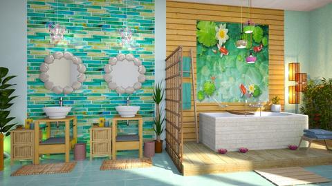 lily pond bathroom - Bathroom  - by Moonpearl