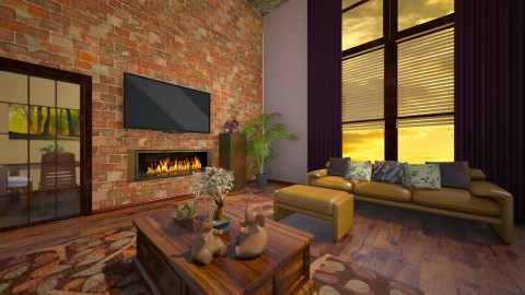 Courtney - Rustic - Living room  - by deleted_1566988695_Saharasaraharas