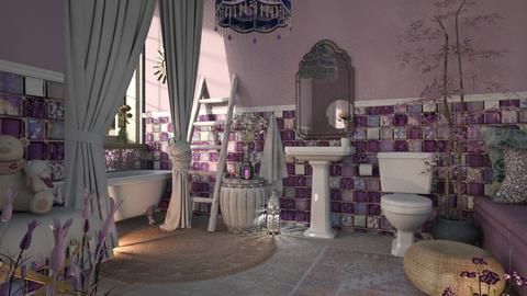 Lovely lavender  - Feminine - Bathroom  - by jjannnii