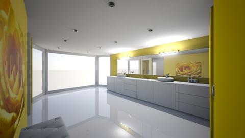 Fancy Bathroom in Yellow  - by Naomi10