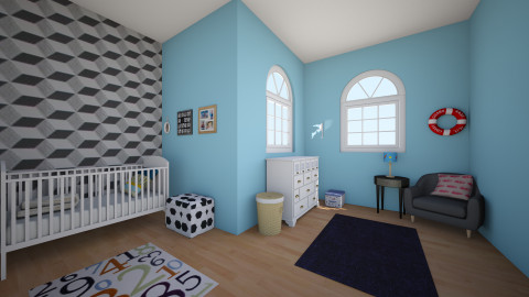 baby boys room - Kids room  - by unicorn_kylie_2003