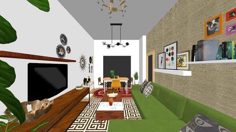 Sala piso - Eclectic - Living room  - by poslita