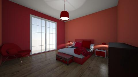 Brooke Woodhouse Red Room - Bedroom  - by brookewoodhouse