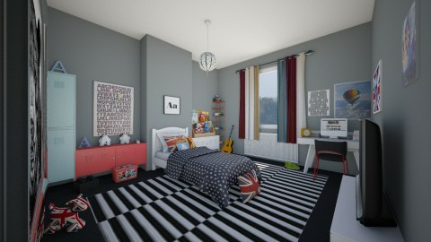 Boy Bedroom - Modern - Kids room  - by camilla_saurus
