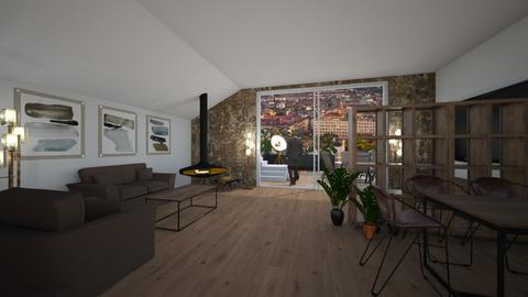 Mansarde - Rustic - Living room  - by kristianvalchev