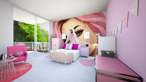 Princess room - Feminine - Bedroom  - by Agamanta
