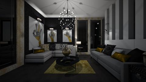 Black and Gold - Glamour - Living room  - by XiraFizade