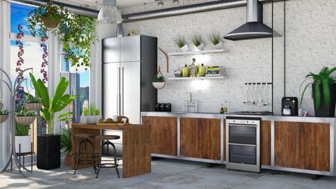 Urban jungle kitchen - by Aymee Estrella