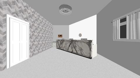 Grey Reception Room - Office  - by xeniaaa