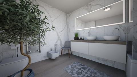 shoolprojectbathroom - Minimal - Bathroom  - by agata9031