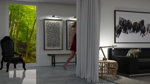 Blue - Living room  - by Teigh Lynn