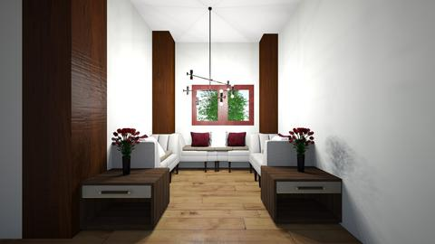 Comfy Red Themed Lounge - Modern - Living room - by SwiftLyDesigns