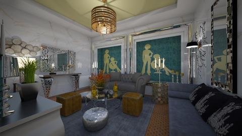 Tyrqouise _Metal_Living - Modern - Living room - by Nikos Tsokos