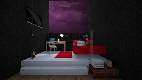 CONTEST_red and Black - Modern - Bedroom  - by KalonK