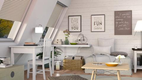 In the Attic - Eclectic - Living room  - by Sally Simpson