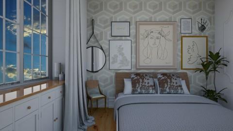 neutral elegance bedroom  - by Ariadne491