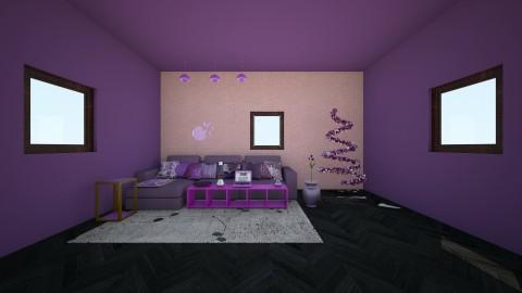 kiss purple - Rustic - Living room  - by wildvioletkiss