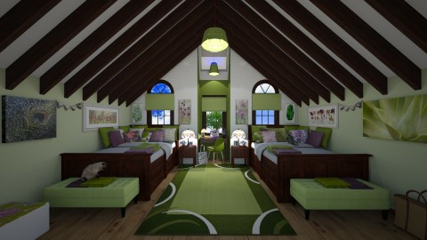 Attic room with dormer - Classic - Bedroom - by  krc60