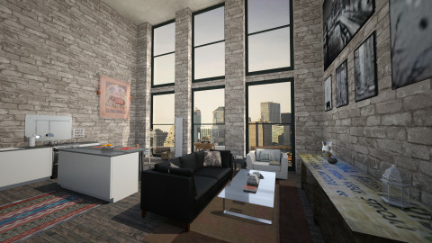 new york city loft - Vintage - Living room  - by heyimkaity