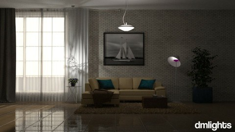 Tijolos brancos 2 - Living room  - by DMLights-user-1101900