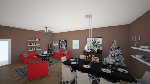 crazy - Retro - Living room  - by amilya
