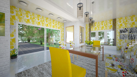Solea - Retro - Dining room  - by Saj Trinaest