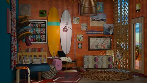 60s surf - Retro - Bedroom - by hello hi hello